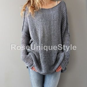 Ordered chunky hand knit